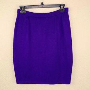 St. John Knit Purple Skirt 4  D410